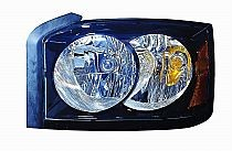 2006-2007 Dodge Dakota Headlight Assembly (With Black Bezel) - Left (Driver)