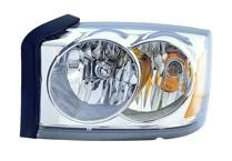 2006 - 2007 Dodge Dakota Headlight Assembly (Without Black Bezel) - Left (Driver)