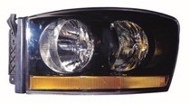 2006 - 2007 Dodge Ram Front Headlight Assembly Replacement Housing / Lens / Cover - Left (Driver)