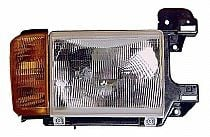 1987-1991 Ford F-Series Pickup Headlight Assembly (without Bright Trim / Includes Park Lamp) - Right (Passenger)