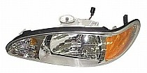 1997 - 2002 Ford Escort Front Headlight Assembly Replacement Housing / Lens / Cover - Left (Driver)