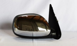 2003-2006 Toyota Tundra Pickup Side View Mirror (Non-Heated / Power Remote / Chrome / Tundra SR5) - Right (Passenger)