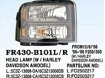 2005 - 2007 Ford F-Series Super Duty Pickup Headlight Assembly - Right (Passenger)