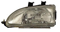 1992 - 1995 Honda Civic Front Headlight Assembly Replacement Housing / Lens / Cover - Left (Driver)