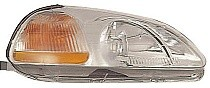 1996 - 1998 Honda Civic Headlight Assembly (Includes Side marker Lamp + without Bulbs or Sockets) - Right (Passenger)