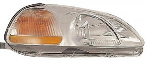 1996-1998 Honda Civic Headlight Assembly (Includes Side marker Lamp / without Bulbs or Sockets) - Right (Passenger)