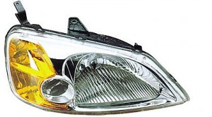 2001-2003 Honda Civic Headlight Assembly (Sedan / Includes Side Marker/Park/Signal Lamps / without Bulbs or Sockets) - Right (Passenger)