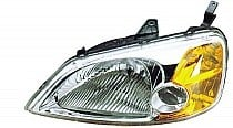 2001 - 2003 Honda Civic Headlight Assembly (Sedan + Includes Side Marker/Park/Signal Lamps + without Bulbs or Sockets) - Left (Driver)