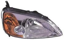 2001 - 2003 Honda Civic Headlight Assembly (Coupe) - Right (Passenger)