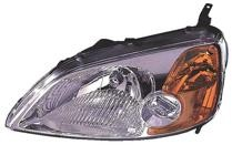 2001 - 2003 Honda Civic Headlight Assembly (Coupe) - Left (Driver)