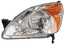 2002 - 2004 Honda CR-V Front Headlight Assembly Replacement Housing / Lens / Cover - Left (Driver)