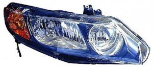 2006-2008 Honda Civic Headlight Assembly (Sedan Only AT & MT) - Right (Passenger)