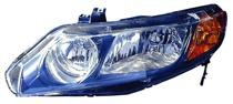 2006 - 2008 Honda Civic Headlight Assembly (Sedan Only AT & MT) - Left (Driver)