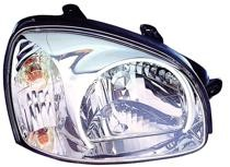 2003 Hyundai Santa Fe Front Headlight Assembly Replacement Housing / Lens / Cover - Right (Passenger)