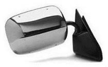 1992 - 1999 GMC Suburban Side View Mirror Replacement (Below Eyeline + Stainless + Chrome ) - Right (Passenger)