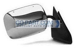 1992-1999 GMC Suburban Side View Mirror (Below Eyeline / Stainless / Chrome ) - Right (Passenger)