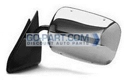 1988-2000 Chevrolet Chevy C / K Pickup Side View Mirror (Below Eyeline / Stainless) - Left (Driver)