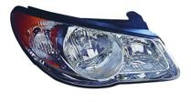 2007 - 2009 Hyundai Elantra Front Headlight Assembly Replacement Housing / Lens / Cover - Right (Passenger)
