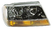 1999 - 2004 Jeep Grand Cherokee Front Headlight Assembly Replacement Housing / Lens / Cover - Right (Passenger)