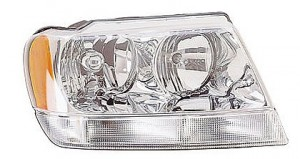2002-2003 Jeep Grand Cherokee Headlight Assembly (Grand Cherokee Limited/Overland) - Right (Passenger)