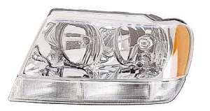 2002-2003 Jeep Grand Cherokee Headlight Assembly (Grand Cherokee Limited/Overland) - Left (Driver)