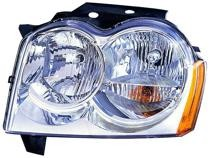 2005 - 2007 Jeep Grand Cherokee Front Headlight Assembly Replacement Housing / Lens / Cover - Left (Driver)
