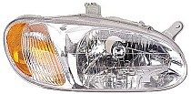 1998 - 2001 Kia Sephia Front Headlight Assembly Replacement Housing / Lens / Cover - Right (Passenger)