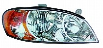 2002 - 2004 Kia Spectra Headlight Assembly (Sedan / Early Design) - Right (Passenger)