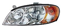 2002-2004 Kia Spectra Headlight Assembly (Sedan / early Design) - Left (Driver)