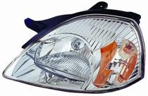 2003 - 2005 Kia Rio5 Front Headlight Assembly Replacement Housing / Lens / Cover - Left (Driver)