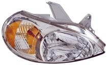 2001 - 2002 Kia Rio5 Front Headlight Assembly Replacement Housing / Lens / Cover - Right (Passenger)