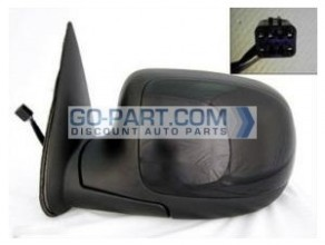 1999-2002 Chevrolet Chevy Silverado  Side View Mirror (Standard Style / Power Remote / Non-Heated) - Left (Driver)