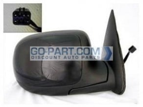 1999-2002 GMC Sierra Side View Mirror (Standard Style / Power Remote / Non-Heated) - Right (Passenger)