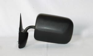 1994-1997 Dodge Ram Side View Mirror (Manual / Black 6X9 / Ram 1500/2500/3500 Pickup) - Left (Driver)