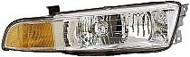 1999 - 2001 Mitsubishi Galant Front Headlight Assembly Replacement Housing / Lens / Cover - Right (Passenger)