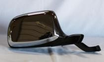 1992 - 1996 Ford Bronco Side View Mirror Replacement (Manual + Paddle Design + Black & Chrome) - Right (Passenger)