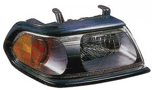 2000-2004 Mitsubishi Montero Sport Headlight Assembly (with Flat Black Bezel) - Right (Passenger)