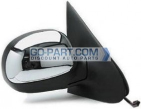 1997-1997 Ford Expedition Side View Mirror (Power Remote / Non-Heated / without Signal Lamp / Chrome) - Right (Passenger)