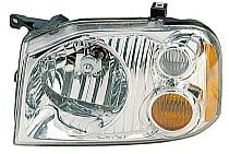 2001 - 2004 Nissan Frontier Headlight Assembly (XE + with Aluminized Bezel) - Left (Driver)