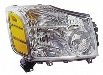2004 - 2007 Nissan Armada Front Headlight Assembly Replacement Housing / Lens / Cover - Right (Passenger)