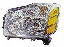 2004 - 2007 Nissan Armada Front Headlight Assembly Replacement Housing / Lens / Cover - Left (Driver)
