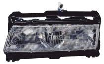 1991 Pontiac Grand Prix Front Headlight Assembly Replacement Housing / Lens / Cover - Left (Driver)