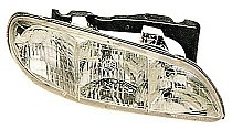 1996 - 1998 Pontiac Grand Am Front Headlight Assembly Replacement Housing / Lens / Cover - Right (Passenger)