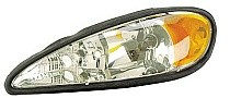 1999 - 2005 Pontiac Grand Am Front Headlight Assembly Replacement Housing / Lens / Cover - Left (Driver)
