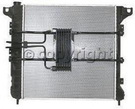 1997-1999 Dodge Dakota Radiator (3.9L / 5.2L / 5.9L / With Auxiliary Toc)