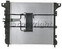 1997 - 1999 Dodge Dakota Radiator (3.9L + 5.2L + 5.9L + With Auxiliary Toc)