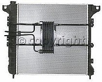 1998 - 1999 Dodge Durango Radiator (3.9L / 5.2L / 5.9L / With Auxiliary Toc)