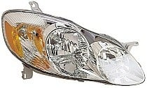 2003-2004 Toyota Corolla Headlight Assembly (CE/LE) - Right (Passenger)