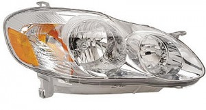 2003-2004 Toyota Corolla Headlight Assembly (S Model) - Right (Passenger)