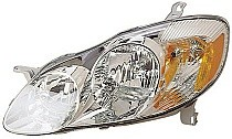 2003 - 2004 Toyota Corolla Headlight Assembly (CE/LE) - Left (Driver)